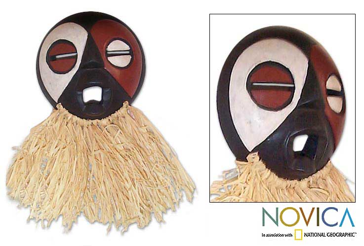 Gabonese 'Fang Tribe Harvest' Wood Mask (Ghana)