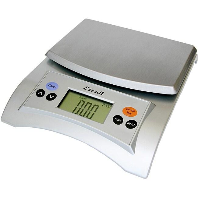 Escali A115S Silver Gray Aqua Liquid Measuring Scale