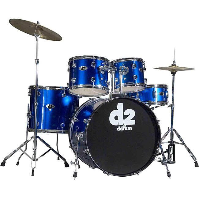 DDrum D2 Beginner 5-piece Police Blue Drum Set