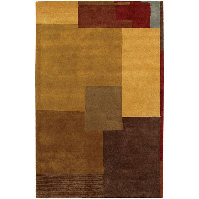 Hand-tufted Mandara Multi-color Wool Rug (9' x 13')