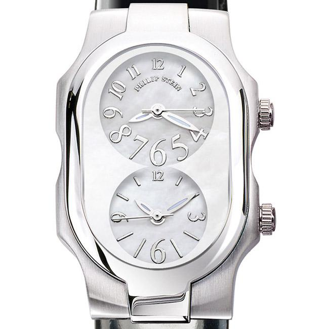 Philip Stein Women's 'Signature' Black Patent Leather Strap Watch 1-F-FSMOP-LB
