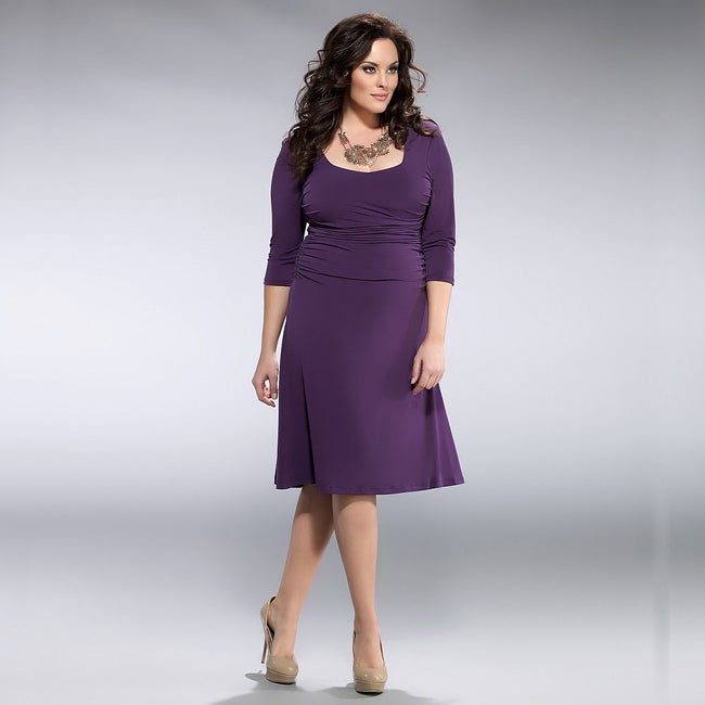 d9a8189880 Shop Kiyonna Women s Plus Size Plum  Flaunt  Cocktail Dress - Free Shipping  Today - Overstock - 5093546