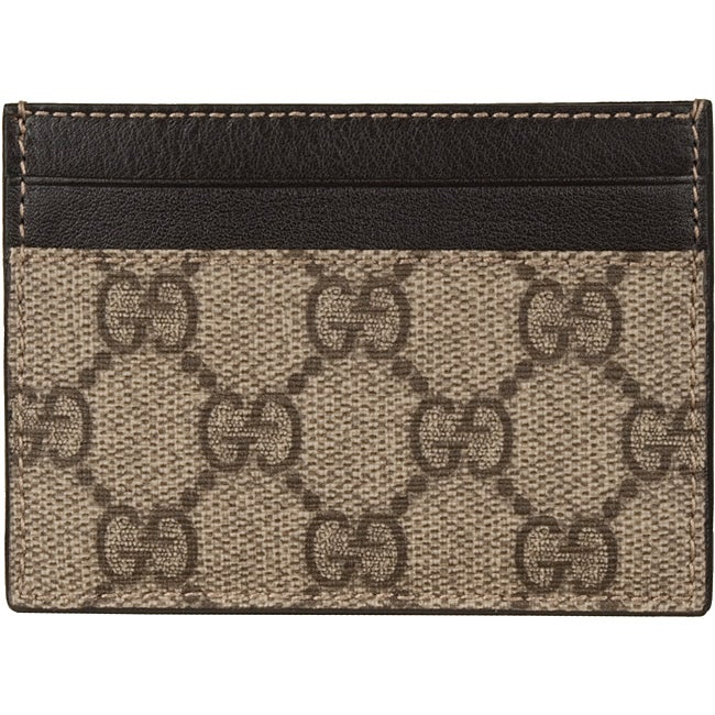 82602982bc4f Shop Gucci Men's Beige Business Card Holder - Free Shipping Today ...