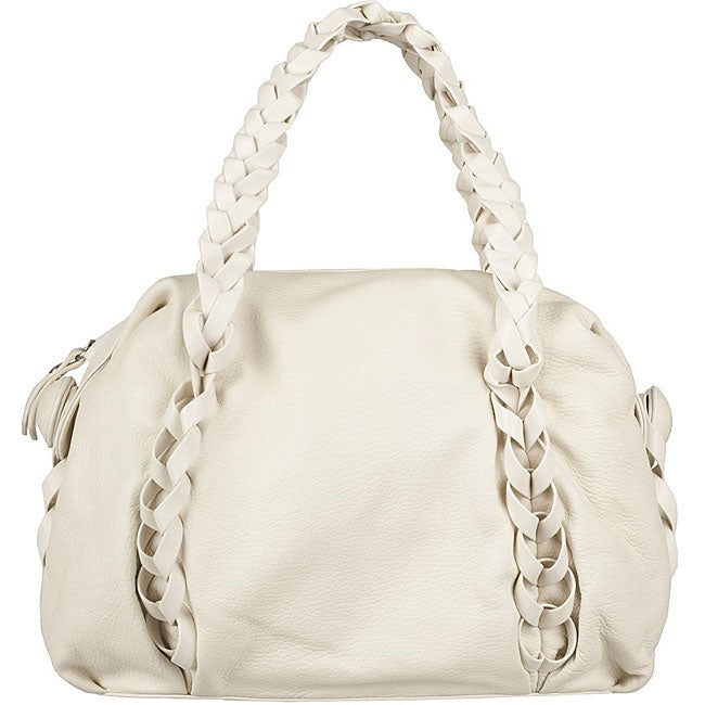 bd8e53ab26 Shop Made in Italy Desmo Leather Ivory Deerskin Bag - Free Shipping Today -  Overstock - 5093866