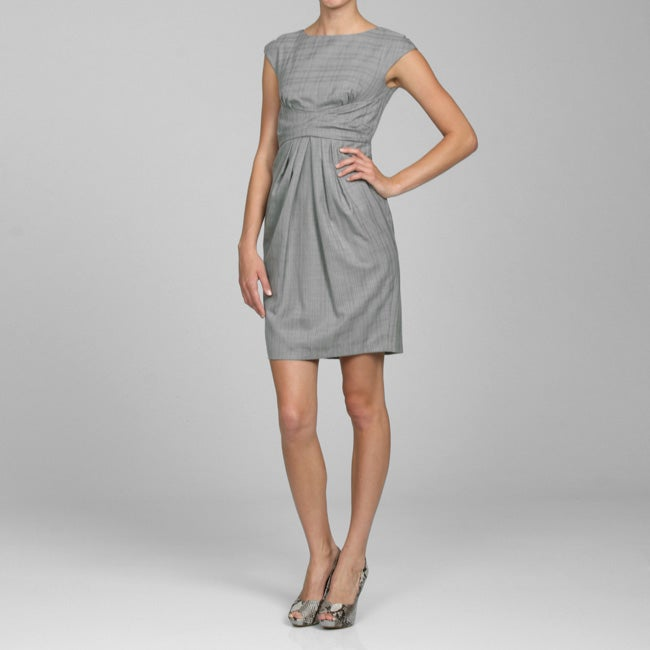 Jax Women's Grey Plaid Sheath Dress - Free Shipping On Orders Over $45 ...