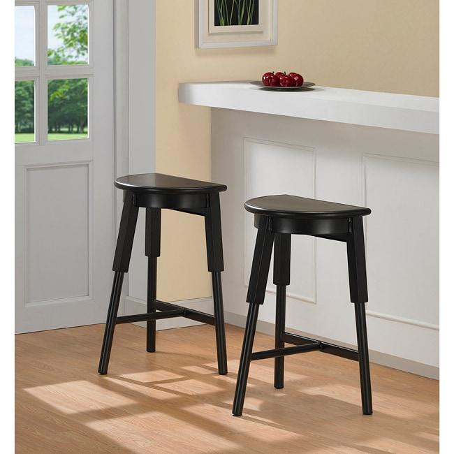 Espresso 3 Legged Metal Counter Stools Set Of 2 Free
