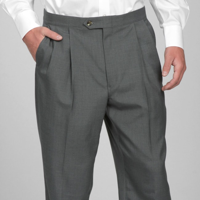 Sansabelt Men's Four Seasons Grey Pleated Dress Pants - Free ...