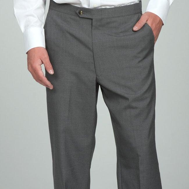 Sansabelt Men's 4 Seasons Grey Flat-front Slacks