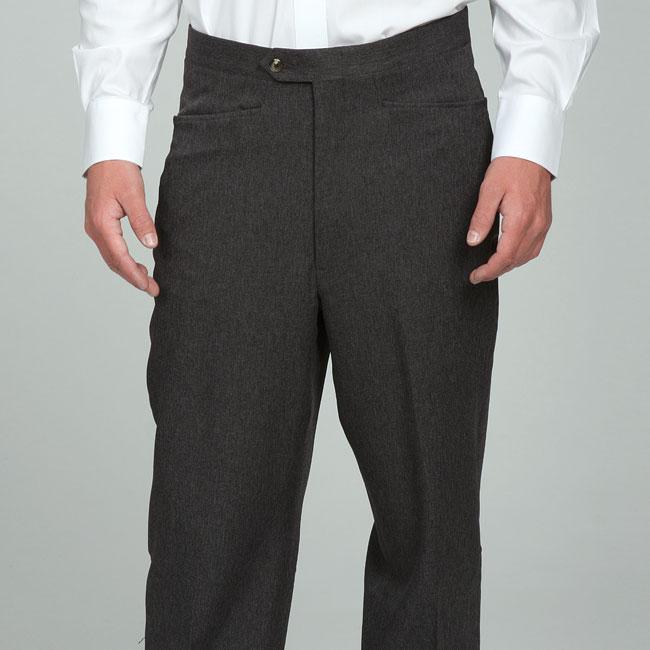 Sansabelt Men's Charcoal Gabardine Twill Trousers