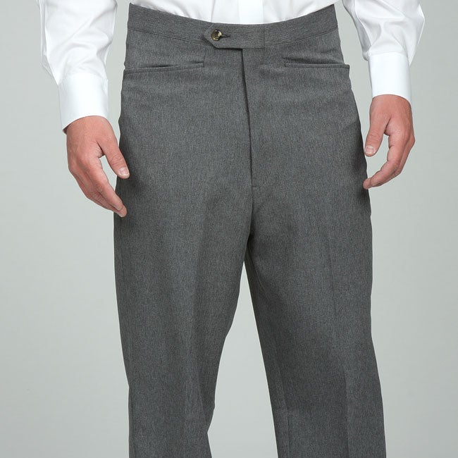 Sansabelt men's Grey Gabardine Twill Trousers - Thumbnail 0