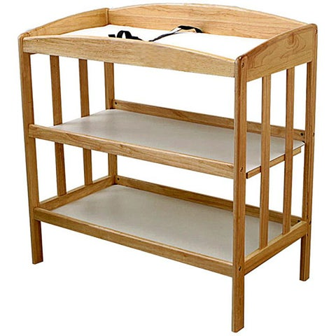 Wooden Changing Table in Natural
