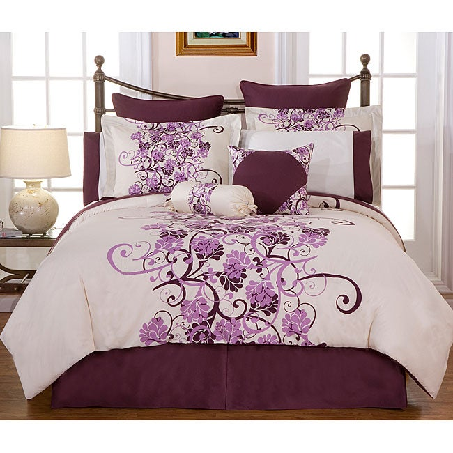Grapevine 8-piece Bed in a Bag with Sheet Set