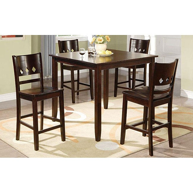 Reezi Solid Wood Brown 5-piece Dining Room Set