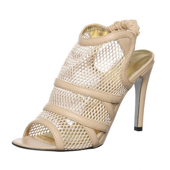 c59706ae98427 Martinez Valero Women's 'Cleo' Fish Net High Heel Slingbacks
