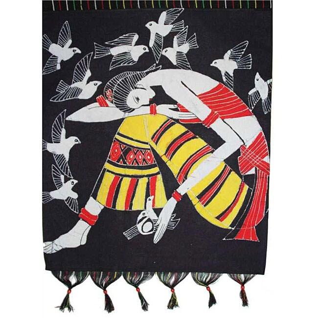'Thinking' Chinese Batik Tapestry (China)