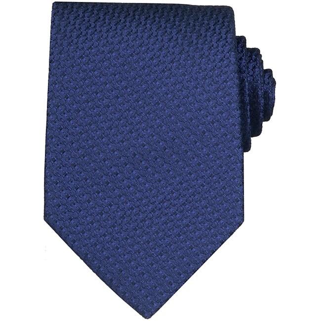 Gucci Textured Royal Blue Silk Tie