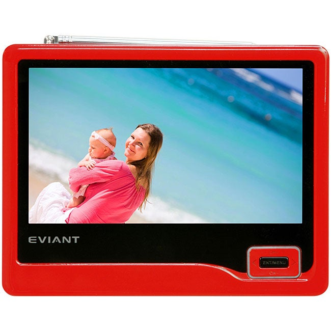 EVIANT T7-02 Card Red 7-inch Portable Digital TV