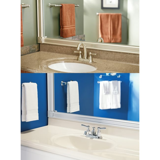 moen mirrorscapes customizable chrome mirror framing kit