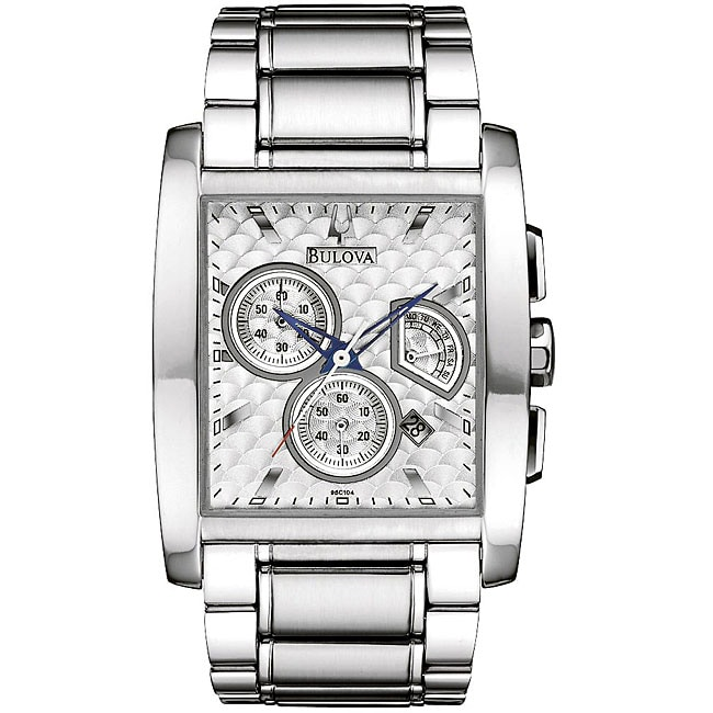 Bulova Men's Chronograph Stainless Steel Dress Watch