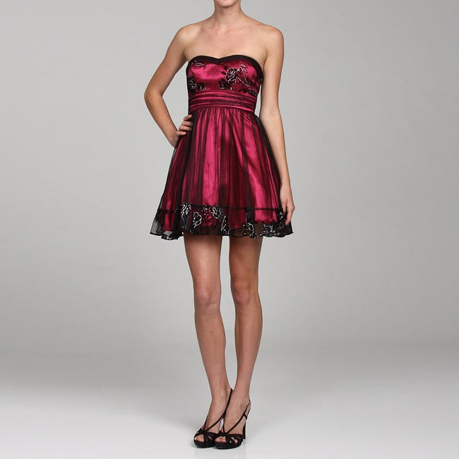 e3954a69d18 Shop Hailey Logan by Adrianna Papell Women's Strapless Glitter Cocktail  Dress - Free Shipping On Orders Over $45 - Overstock - 5107043