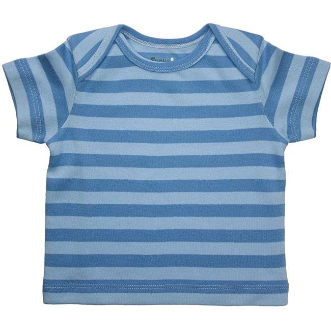 Funkoos Organic Blue Stripes Infant Boy T-Shirt