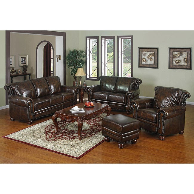 Mesa 4 piece leather living room set free shipping today for 4 piece living room set