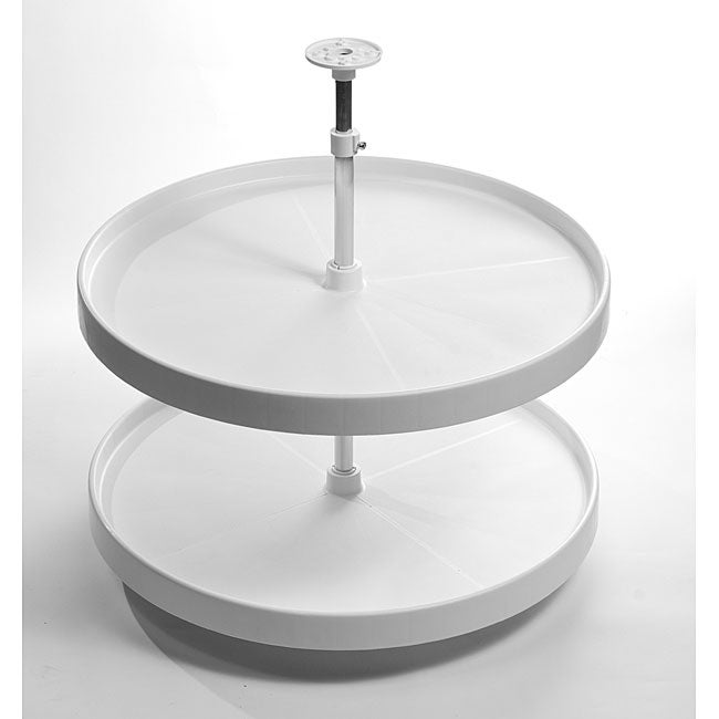 Round 18 Inch Lazy Susan Double Rotating Tray Free