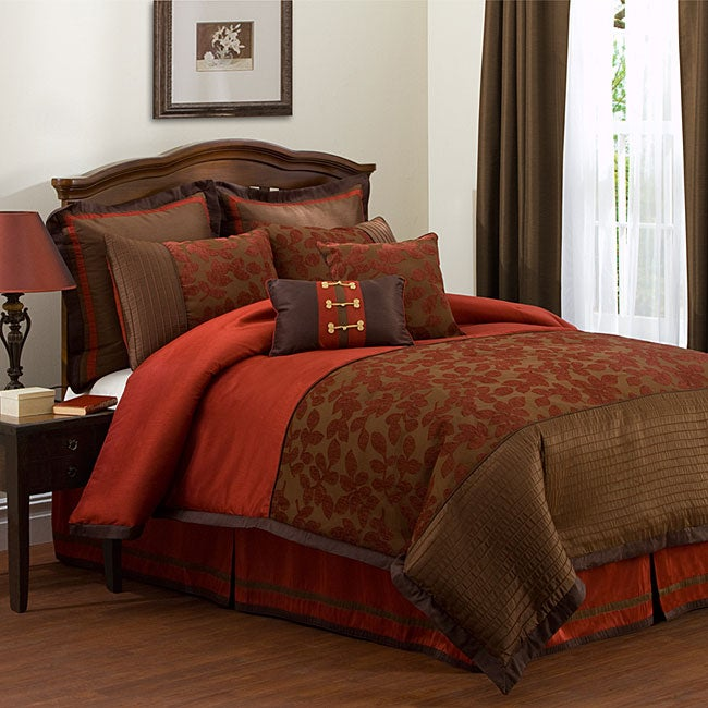 Shop Lush Decor Madeira 8 Piece Comforter Set Free Shipping Today 5108865