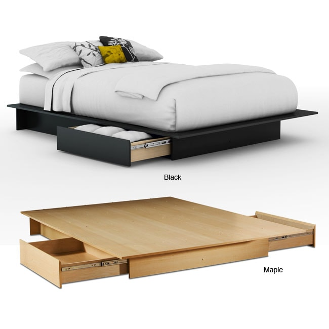 Contemporary Storage Platform Bed - Contemporary Storage Platform Bed - Free Shipping Today