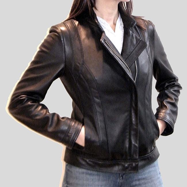 Izod Women's New Zealand Lamb Leather Jacket