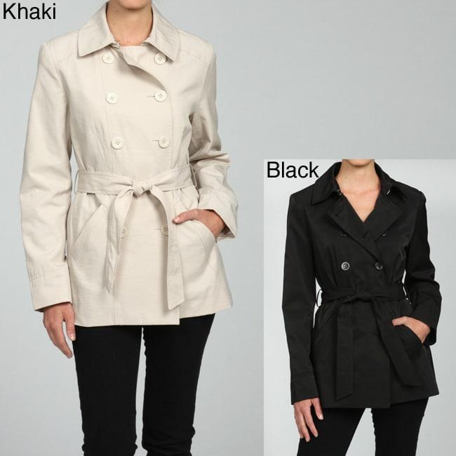 a33f8df7391c Shop Nine West Women s Belted Short Rain Jacket - Free Shipping ...