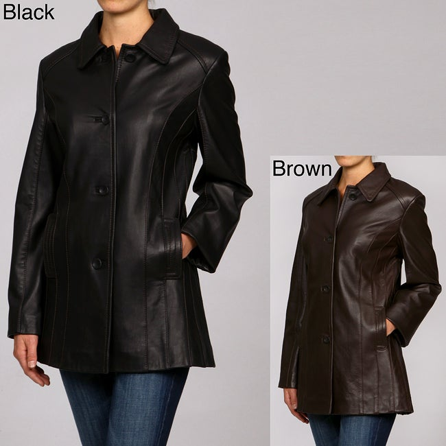 d44b7f11d7b Shop Izod Women s Plus Size Lamb Leather Button-up Jacket - Free Shipping  Today - Overstock - 5110068