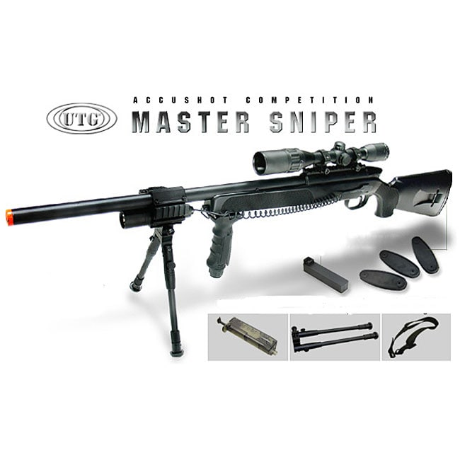 UTG Gen 5 Spring Sniper Rifle Accushot Competition Master Model 700 Pro Airsoft Gun