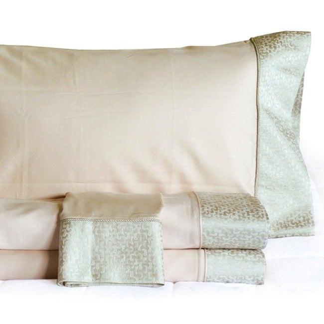 Venice Sateen Cotton 230 Thread Count 4-piece Sheet Set with Bonus Pillowcases