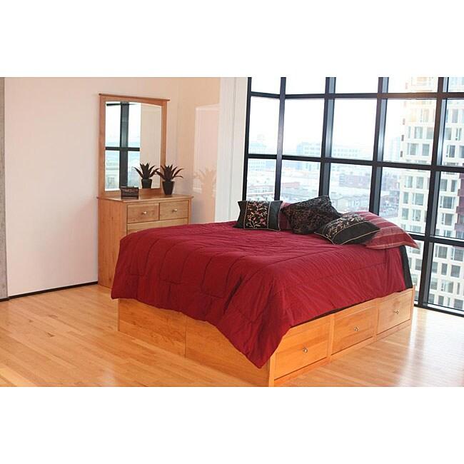 Full 3-piece Alder Chest Bed Set