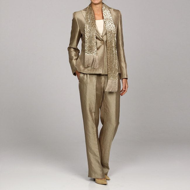 Kasper Women S Satin Pant Suit With Scarf Free Shipping