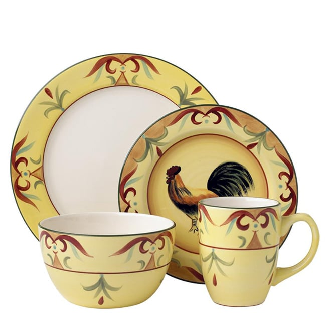 Shop Pfaltzgraff 32-piece Tuscan Rooster Dinnerware Set - Free ...