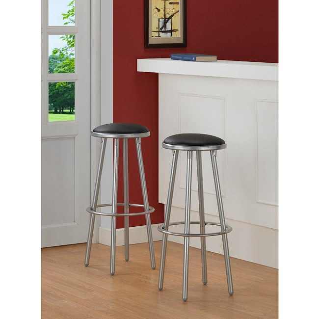 Modern Metal Bar Stools Set Of 2 Free Shipping Today