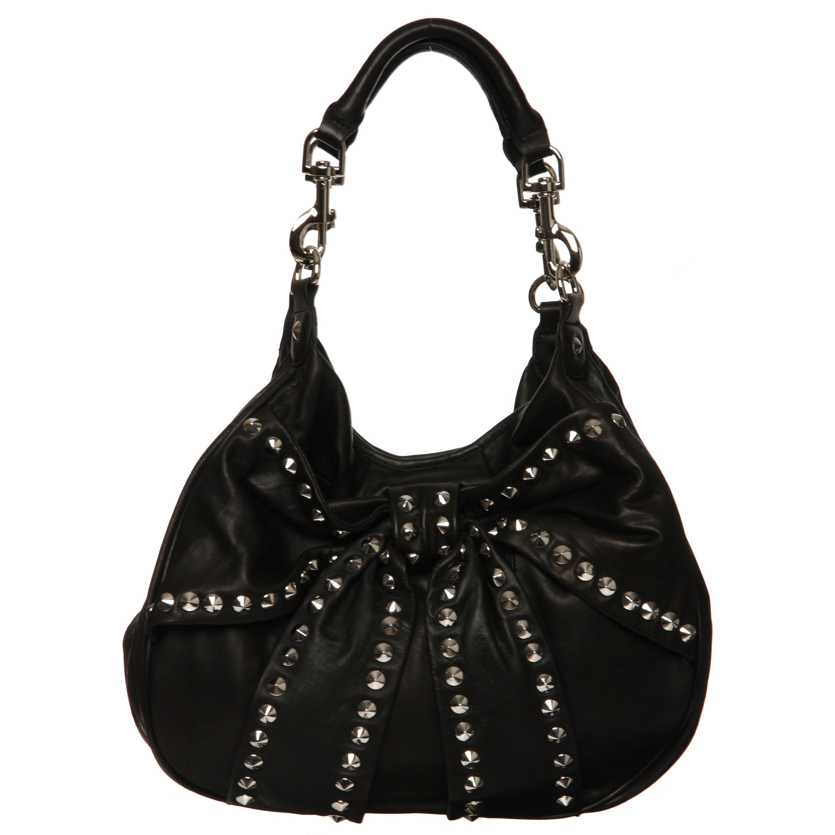 Betsey Johnson Studded Bow Leather Tote Bag