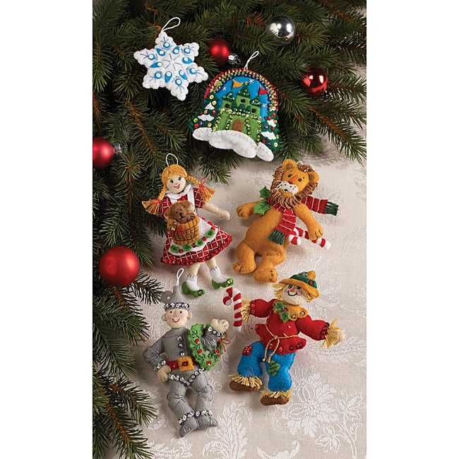 bucilla christmas in oz felt christmas ornaments kit - Christmas Decoration Kits