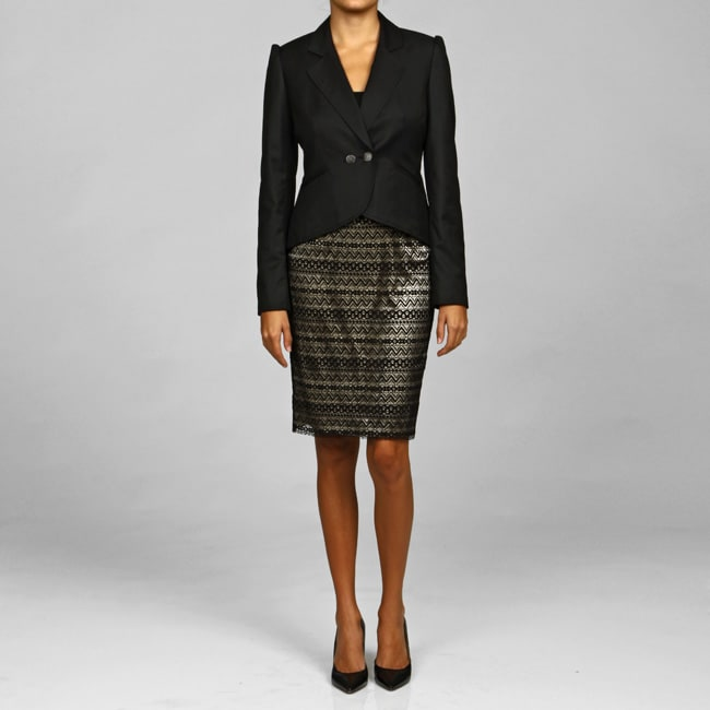 Nine West Women's Lace 2-piece Skirt Suit