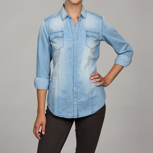 Ninety Women's Washed Denim Shirt