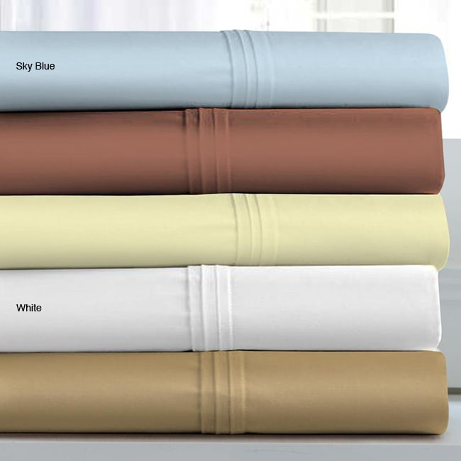 Wrinkle-resistant Cotton 500 Thread Count Extra Deep Sheet Set