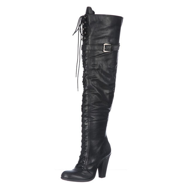 ad154de67183 Shop Bronx Women's Black 'Aen and Now' Over-the-Knee Boots - Free Shipping  Today - Overstock - 5116532