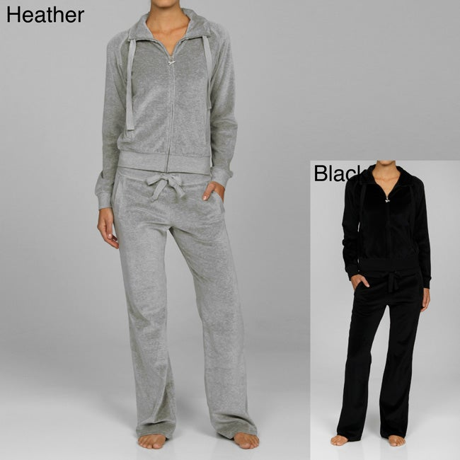 f41795d47ce Shop Central Park Women s Velour Jacket and Pants Set - Free Shipping On  Orders Over  45 - Overstock - 5116575