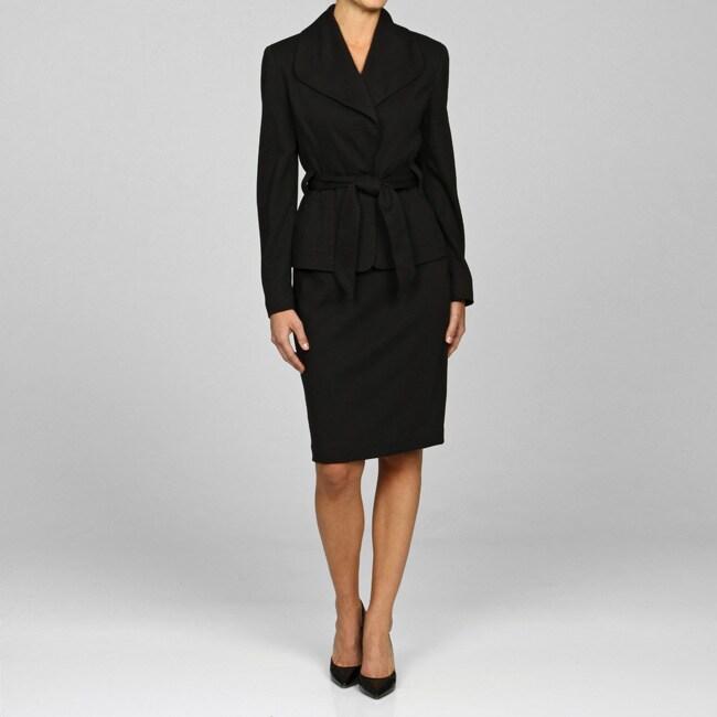Larry Levine Women's Ponte Knit Skirt Suit