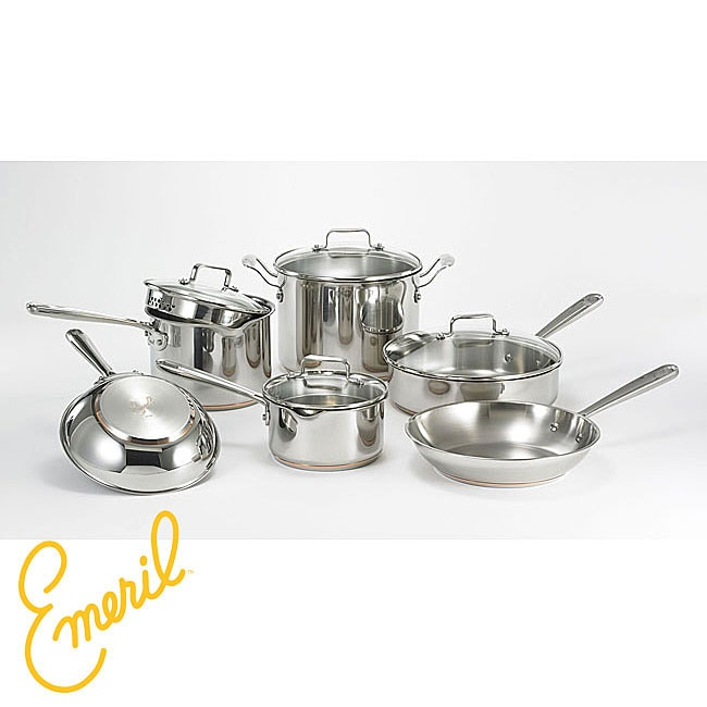 Emeril Stainless Steel 10-piece Cookware Set