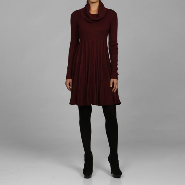 ac8cec2b31 Shop Calvin Klein Long-sleeve Cowl Neck Sweater Dress - Free Shipping Today  - Overstock - 5122283