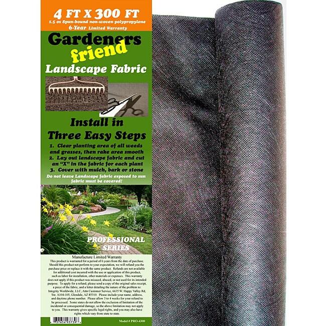 Commercial Landscape Fabric: Shop Gardeners Friend Weed Barrier Landscape Fabric (4' X 300')