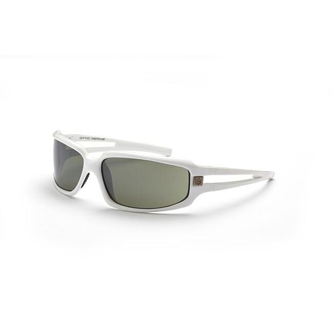 Optic Nerve Men's Pneumatic Shiny White Sunglasses